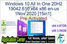 Windows 10  (20H2) EN-US AIO (15in1) 19021.608 x64